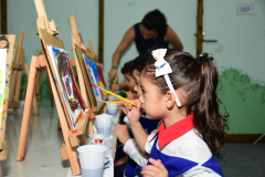 Aula de artes Educação Infantil
