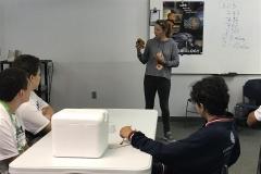 02/11 - aula de Astrobiologia com a Dra petra M Schwendner, cientista alemã que trabalha na University of Florida com pesquisas sobre a microbiologia de Marte.